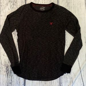 AEO Heritage Thermal Long Sleeve  Grey Mens M